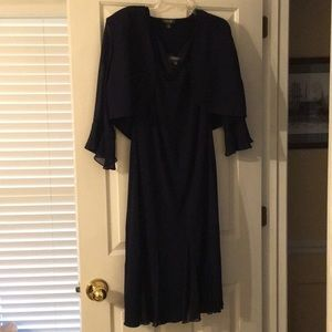 Dress Barn Woman Collection Navy 2-Piece Dress